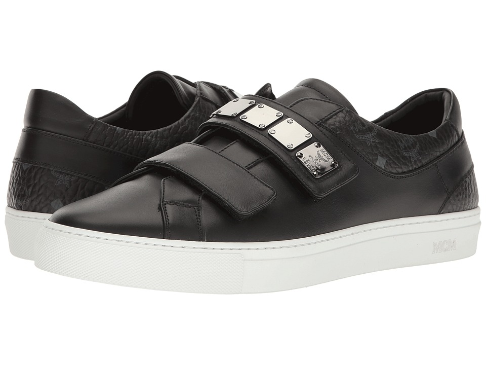 MCM - Low Top Sneaker w/ Brass Plate Detail (Black) Men's Shoes