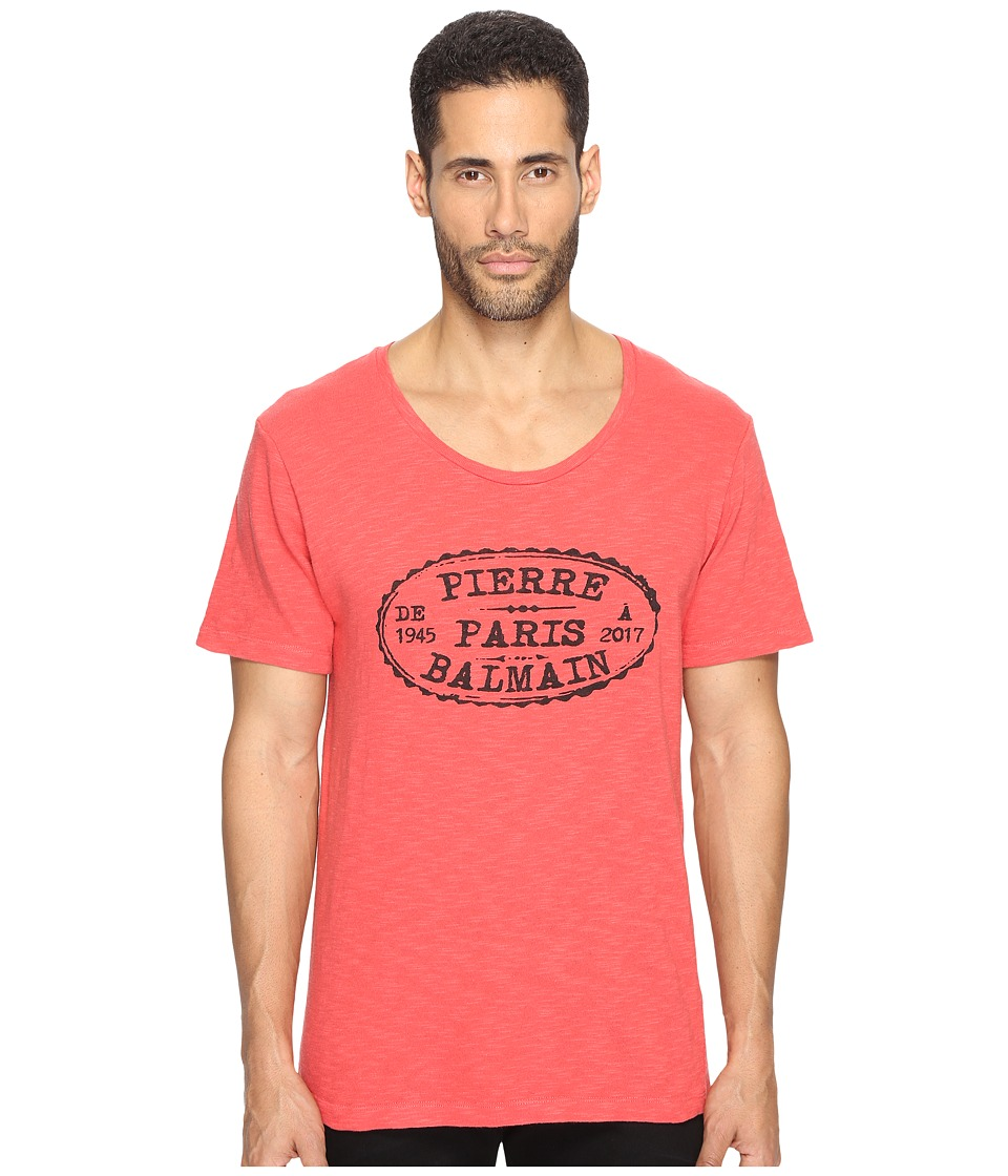 Pierre Balmain - Stamp T-Shirt (Red Vintage) Men's T Shirt