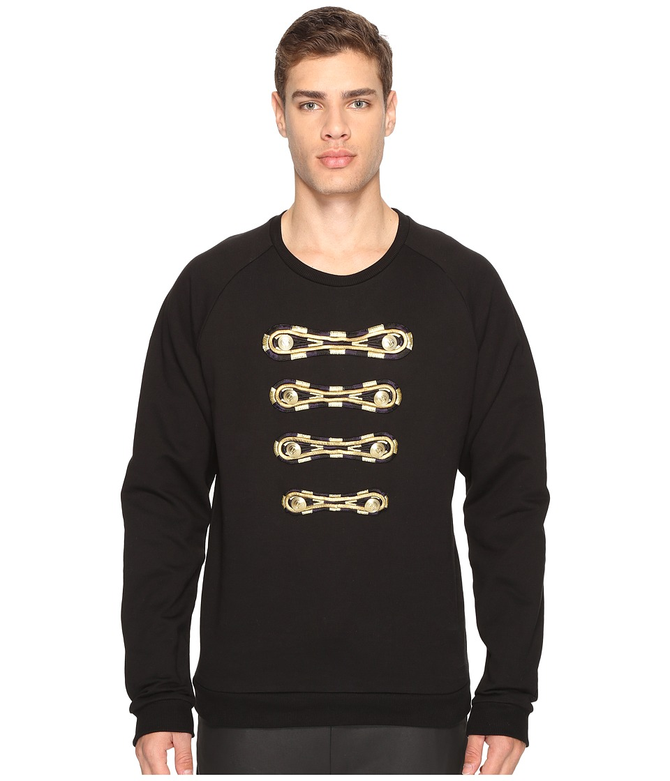 Pierre Balmain - Military Sweatshirt (Black) Men's Sweatshirt