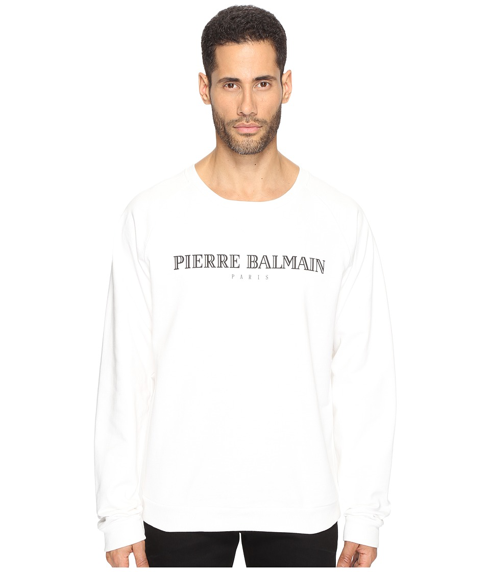 Pierre Balmain - Logo Sweatshirt (Off-White) Men's Sweatshirt
