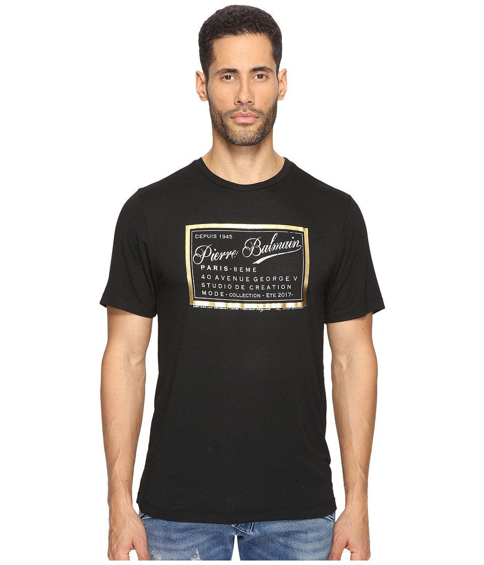 Pierre Balmain - Screenprint T-Shirt (Black) Men's T Shirt