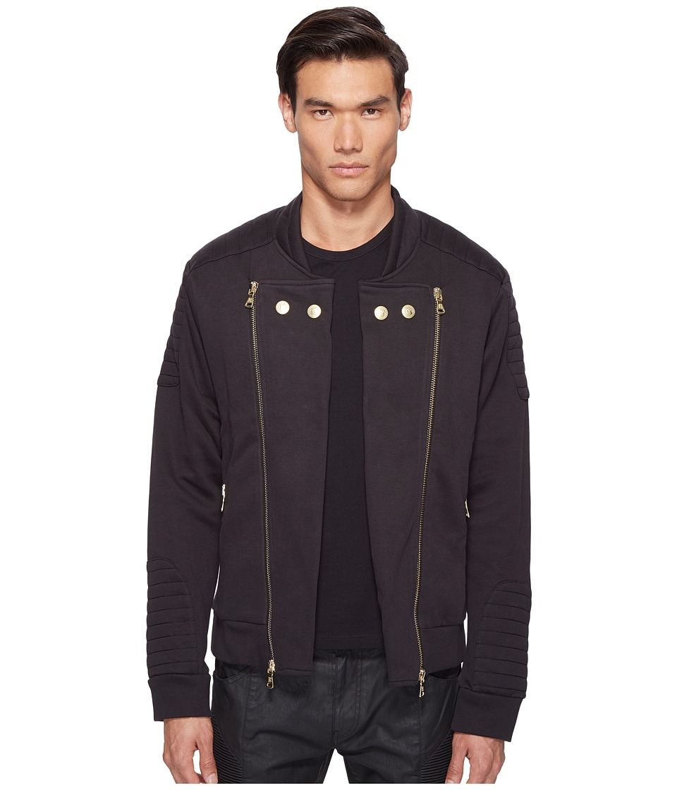 Pierre Balmain - Moto Jacket (Black) Men's Coat