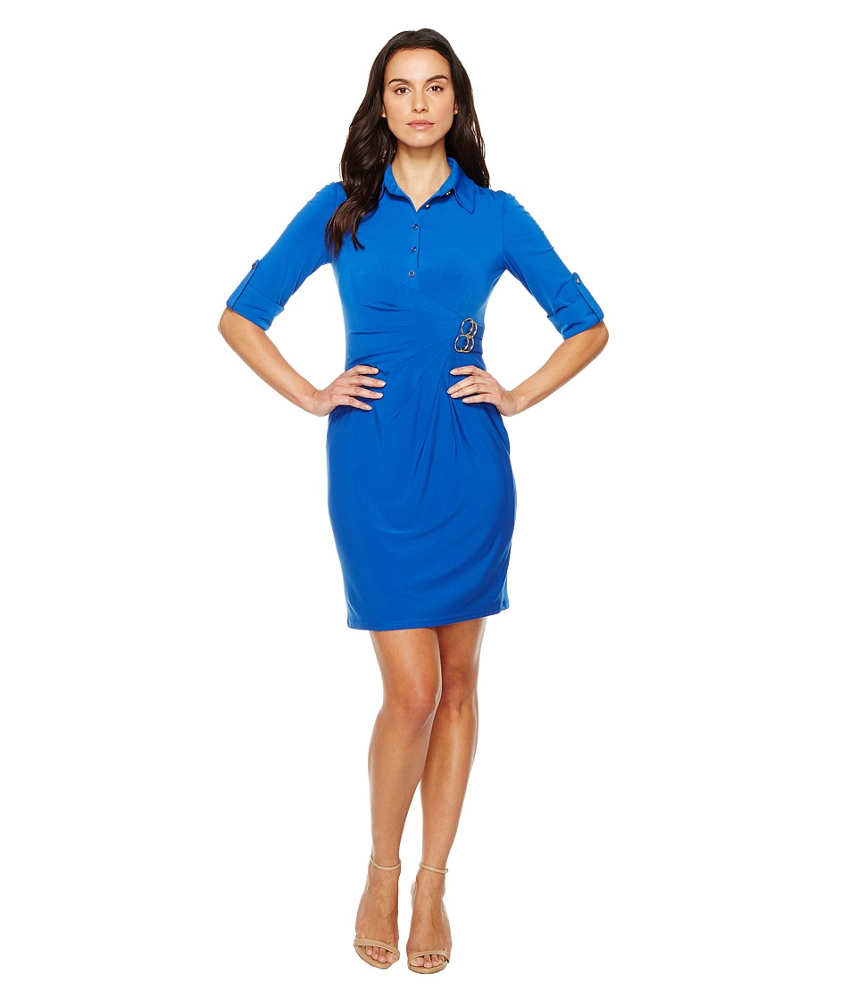 Tahari by ASL - Jersey Shirtdress Sheath (Blueberry) Women's Dress