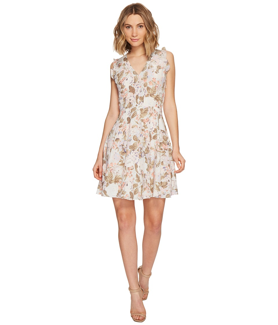Rebecca Taylor Sleeveless Penelope V-Neck Dress (Sky Blue Combo) Women