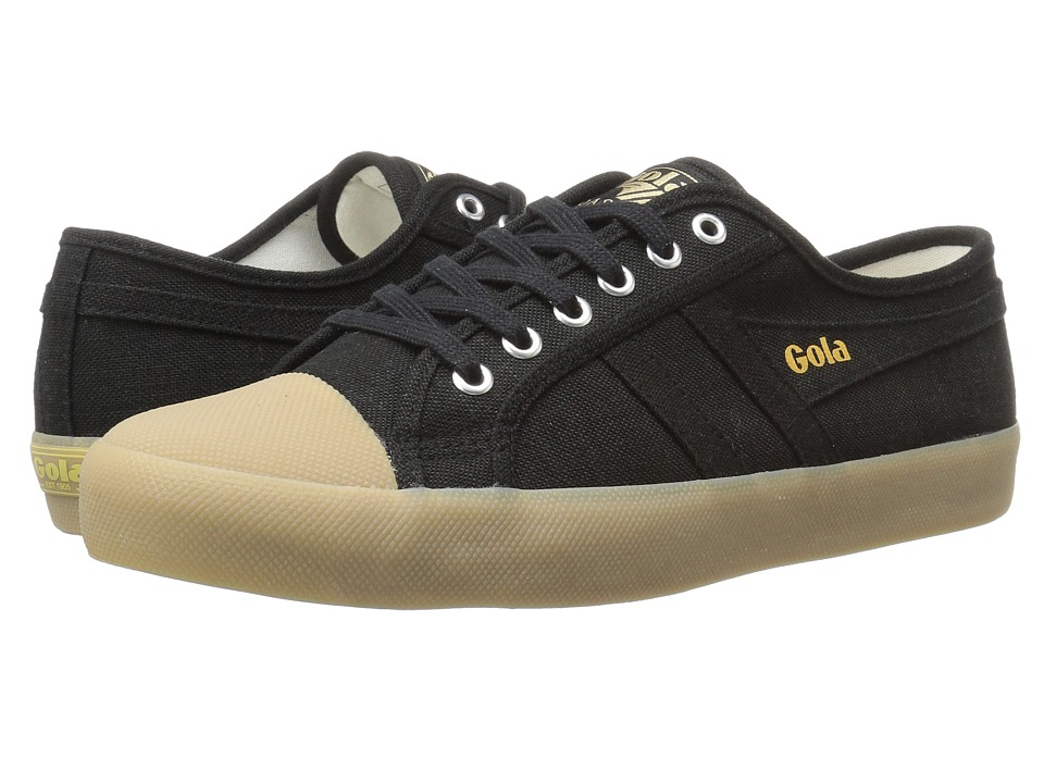 Gola - Coaster Linen (Black/Gum) Men's Shoes