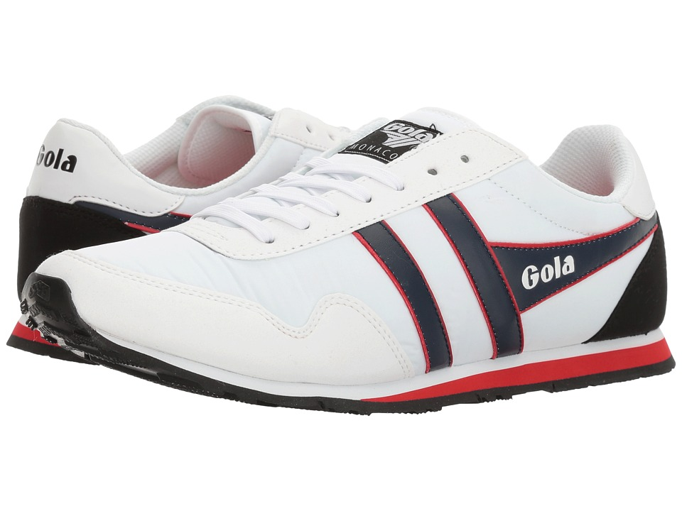 Gola - Monaco (White/Navy/Red) Men's Shoes