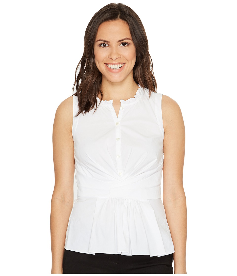 Rebecca Taylor - Sleeveless Poplin Wrap Top (Milk) Women's Clothing