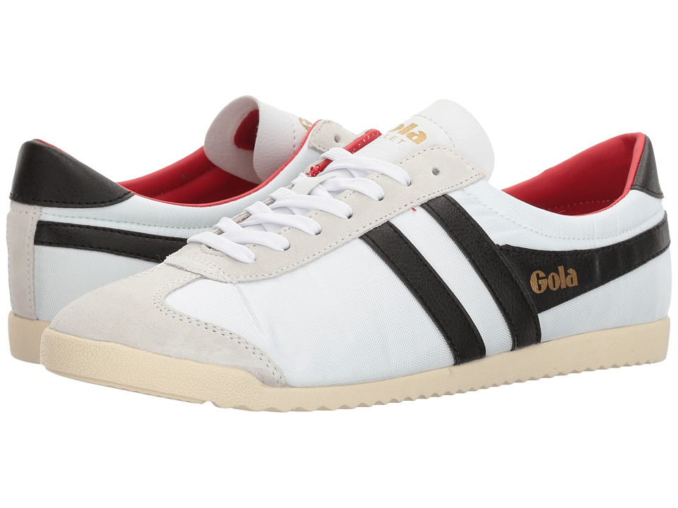 Gola - Bullet Nylon (White/Black/Red) Men's Shoes