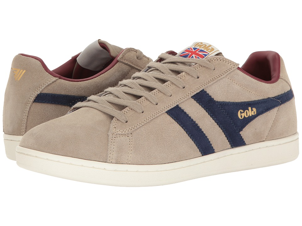 Gola - Equipe Suede (Stone/Navy/Burgundy) Men's Shoes