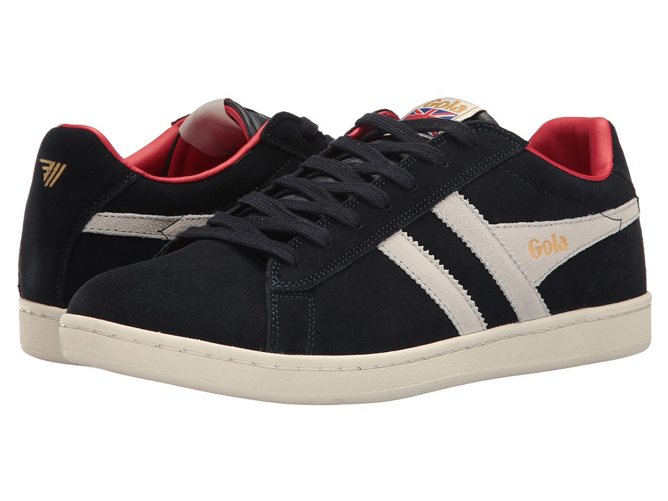 Gola - Equipe Suede (Navy/White/Red) Men's Shoes