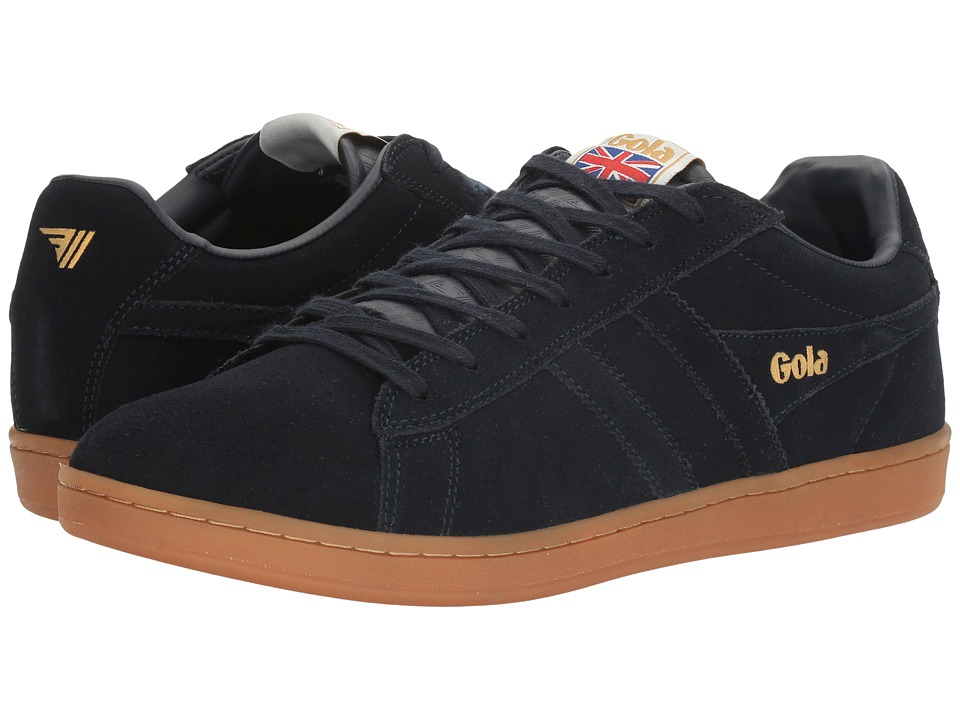 Gola - Equipe Suede (Navy/Navy/Gum) Men's Shoes