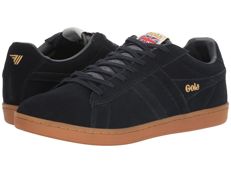Gola - Equipe Suede (Navy/Navy/Gum) Men's Shoes