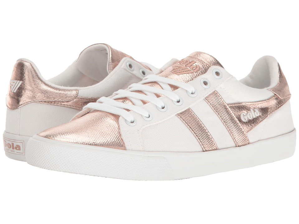 Gola - Orchid Textile Metallic (White/Rose Gold) Women's Shoes