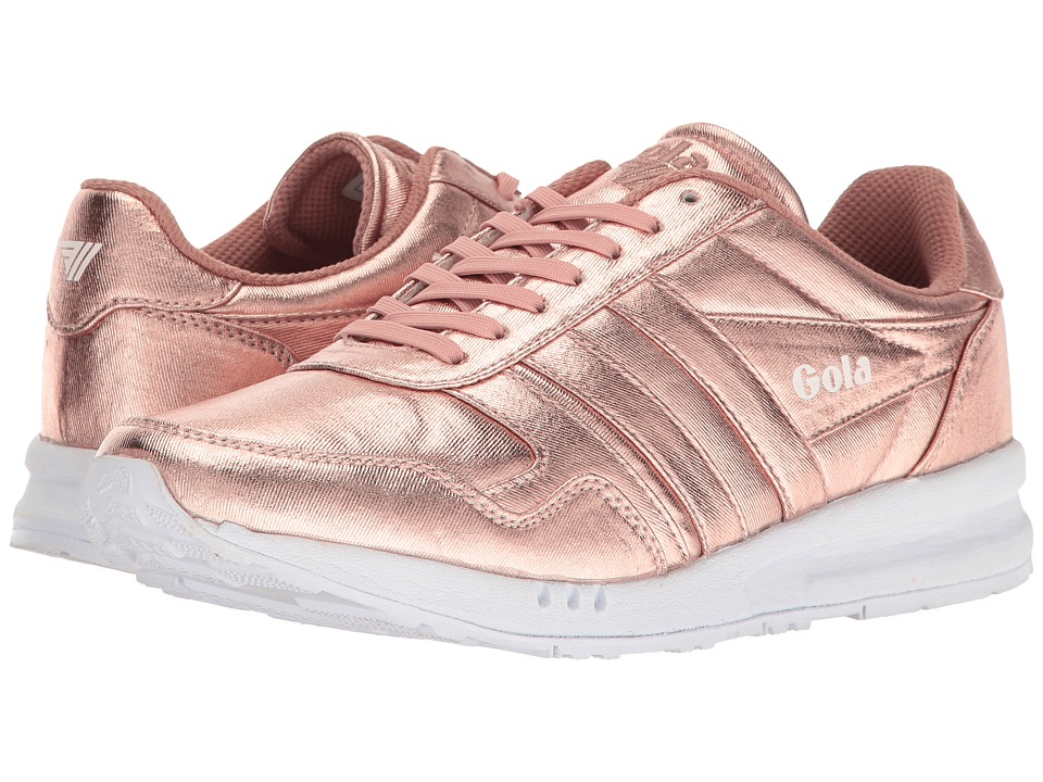 Gola Relay Metallic (Rose Gold/White) Women