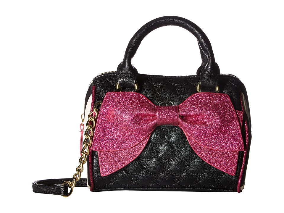 Betsey Johnson - Mini Barrel (Black Multi) Handbags