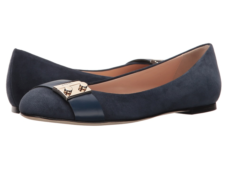 Furla - Metropolis Ballerinas (Navy Suede) Women's Shoes
