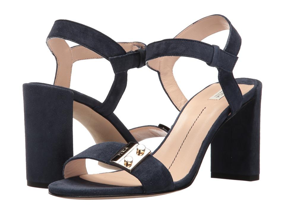 Furla - Metropolis Sandal (Navy Suede) Women's Sandals