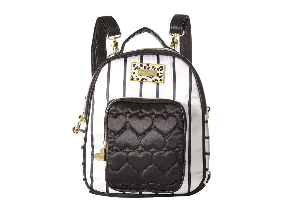 Betsey Johnson - Mini Convertible Backpack (Stripe) Backpack Bags