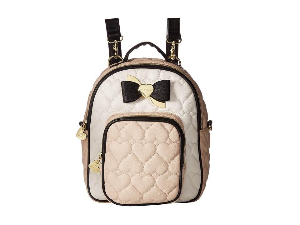 Betsey Johnson - Mini Convertible Backpack (Sand) Backpack Bags