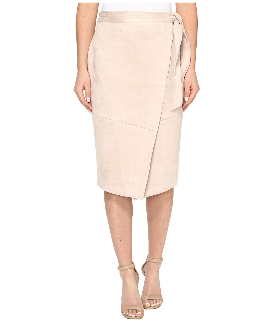 Ivanka Trump - Faux Suede Wrap Skirt (Blush Pink) Women's Skirt