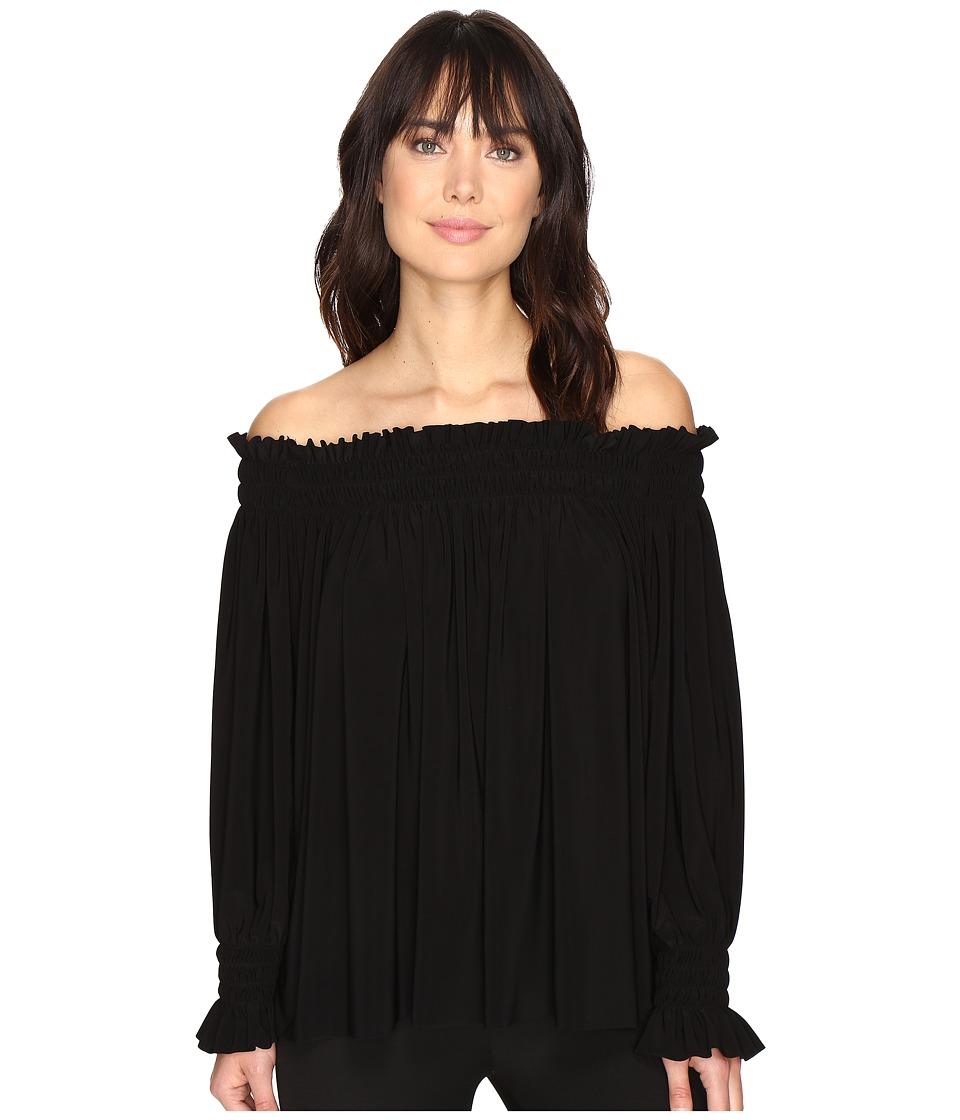 KAMALIKULTURE by Norma Kamali - Peasant Top (Black) Women's Clothing