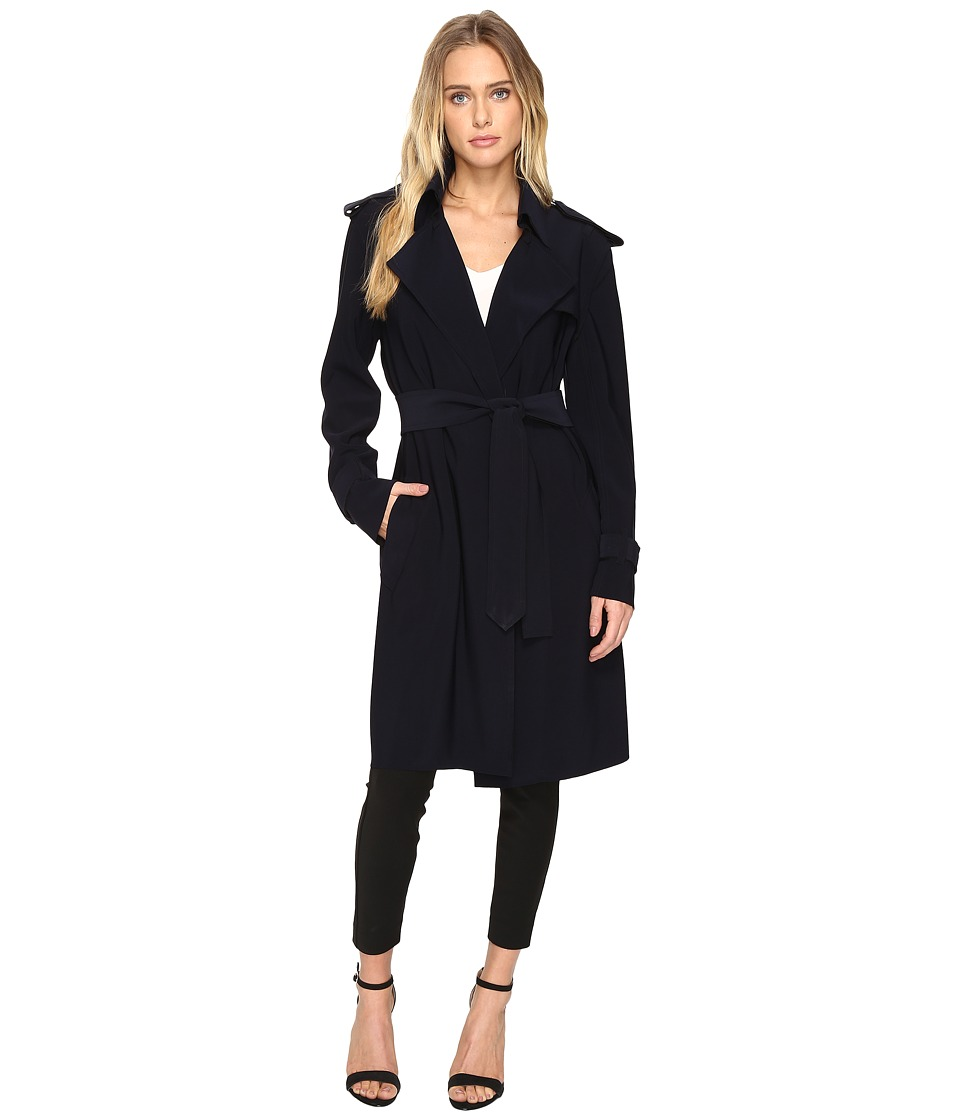 KAMALIKULTURE by Norma Kamali - Double Breasted Trench (Midnight) Women's Coat