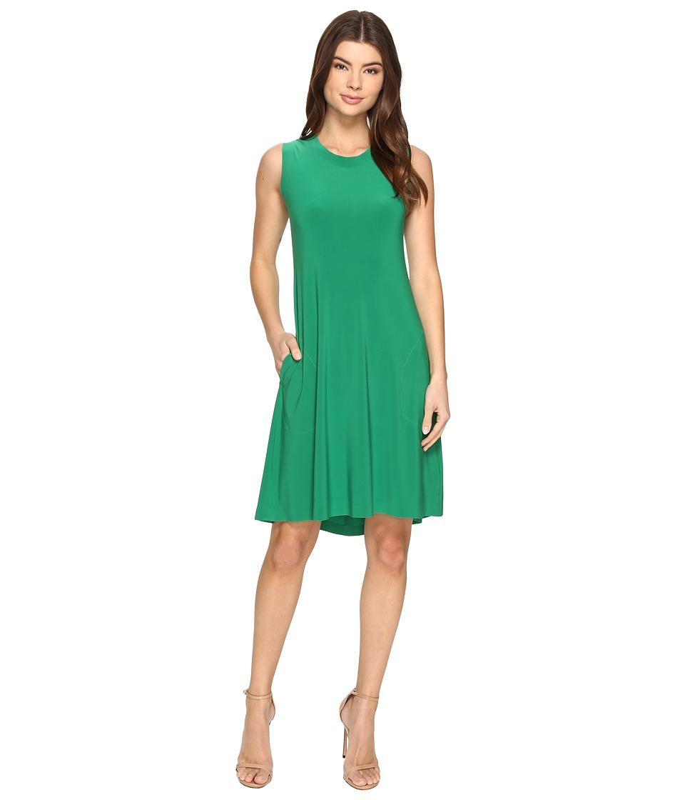 KAMALIKULTURE by Norma Kamali - Sleeveless Swing Dress (Kelly Green) Women's Dress