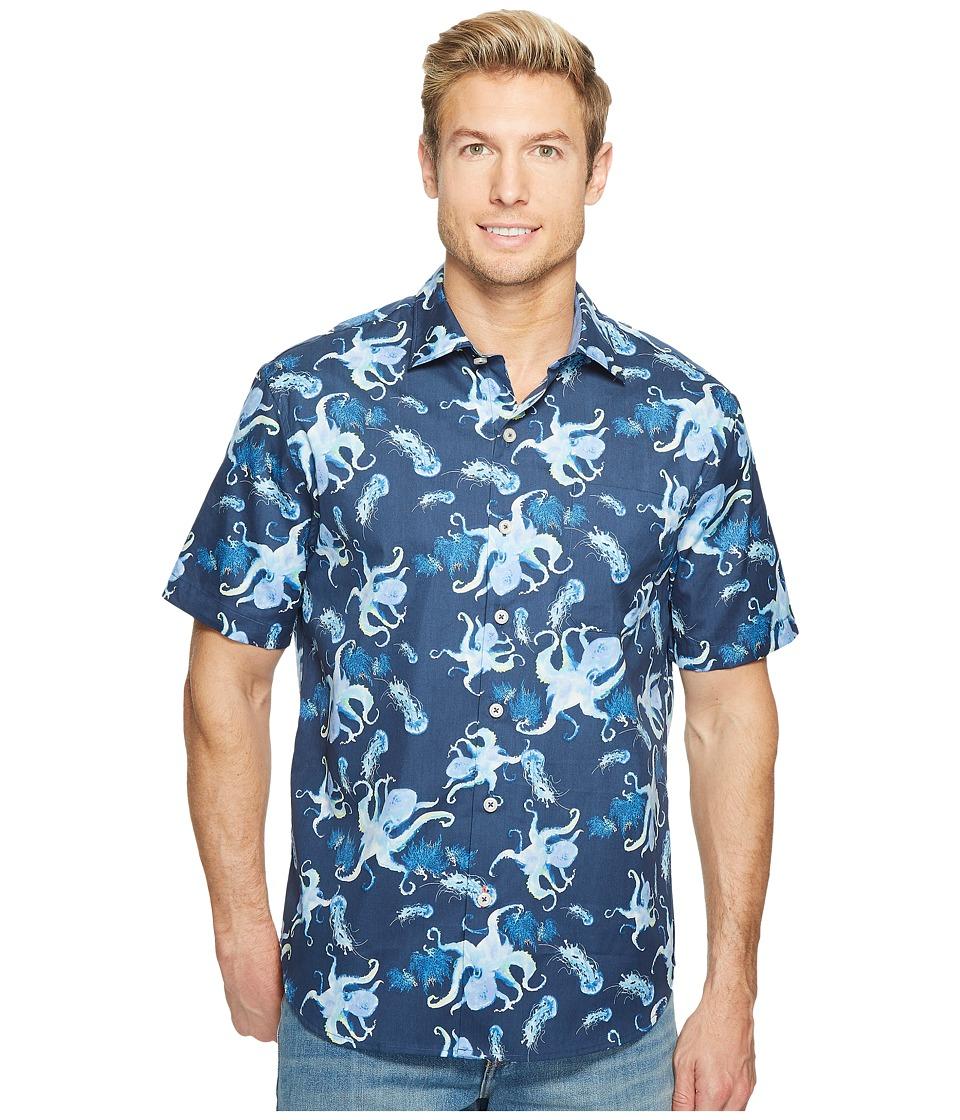 Tommy Bahama - Cracken Up Camp Shirt (Ocean Deep) Men's Clothing