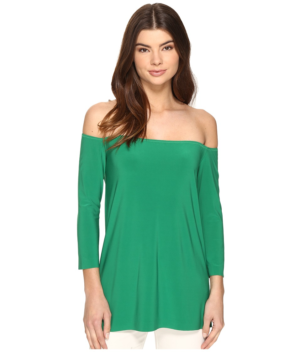 KAMALIKULTURE by Norma Kamali - Off Shoulder Top (Kelly Green) Women's Clothing