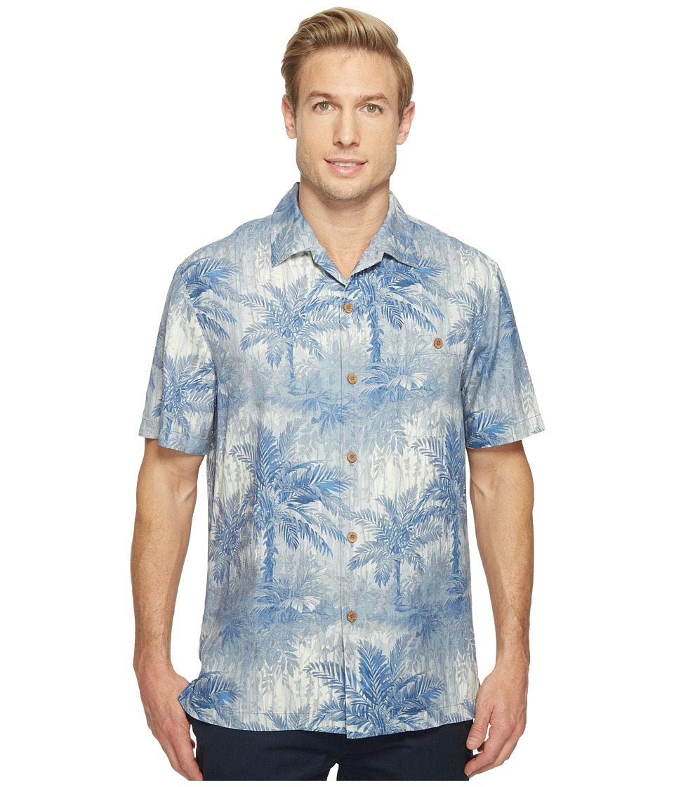 Tommy Bahama - Lindos Palms Camp Shirt (Buccaneer Blue) Men's Clothing
