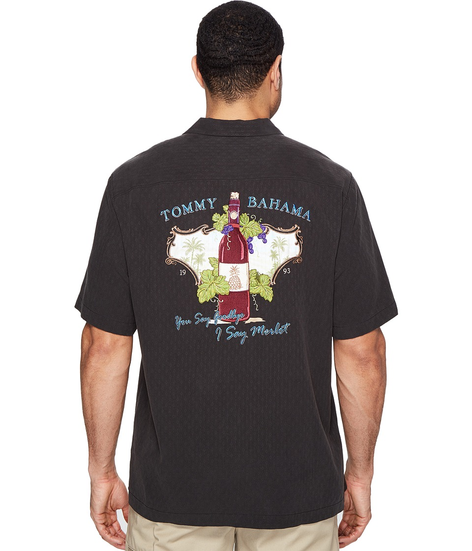 Tommy Bahama - I Say Merlot Camp Shirt (Black) Men's Clothing