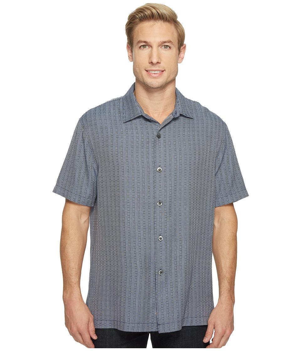 Tommy Bahama - Geo Getaway Camp Shirt (Ocean Deep) Men's Clothing