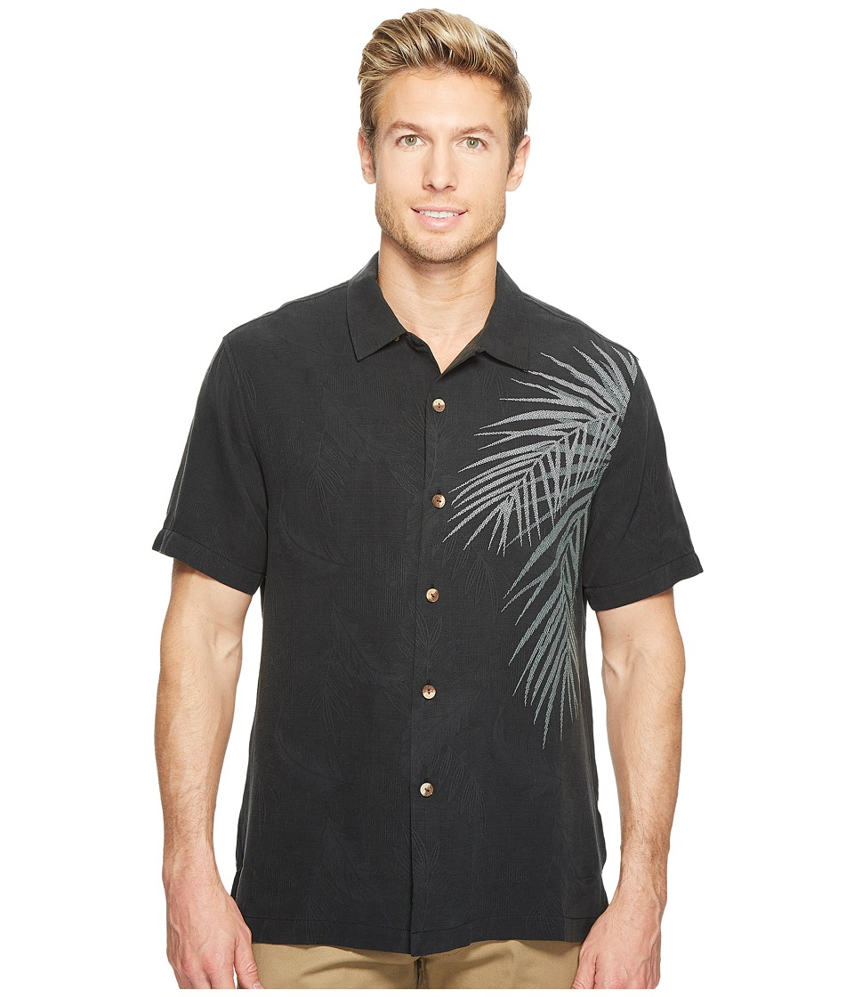Tommy Bahama - Palm Intentions Camp Shirt (Jet Black) Men's Clothing