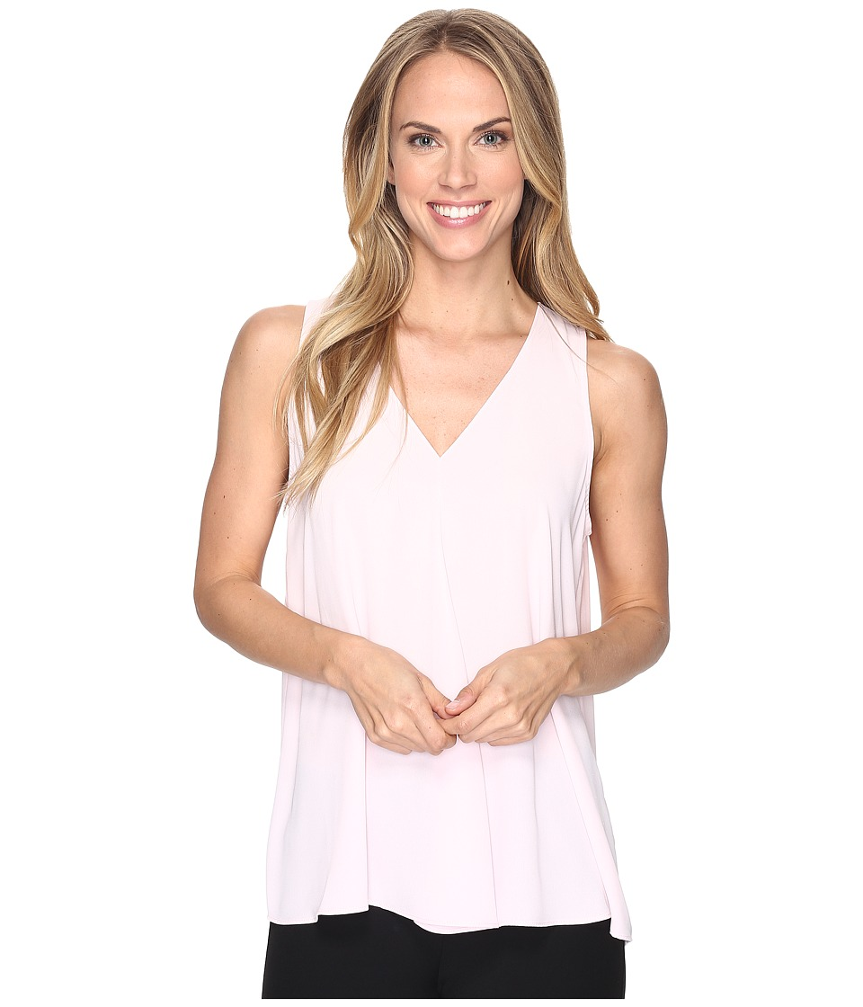 Vince Camuto - Sleeveless V-Neck Drape Front Blouse (Pale Dahlia) Women's Blouse