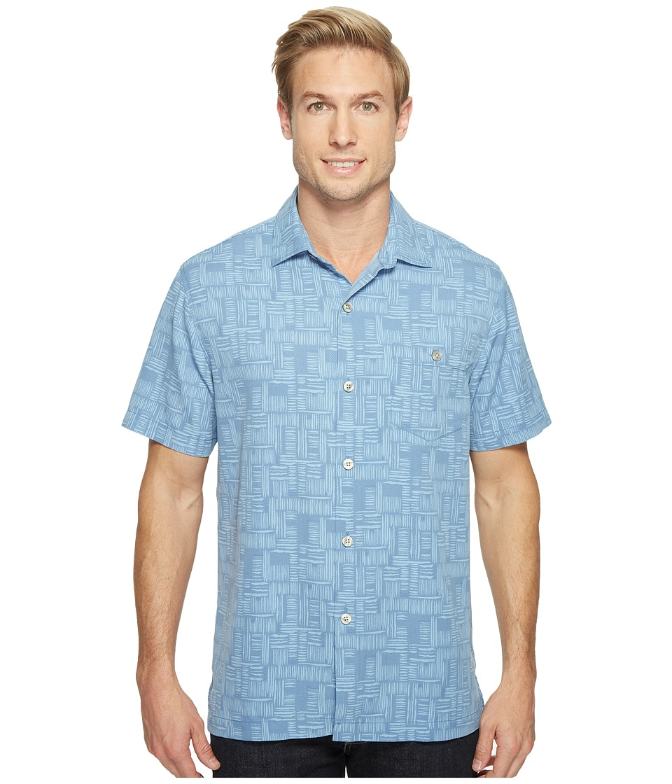 Tommy Bahama - Thatch of The Day Camp Shirt (Buccaneer Blue) Men's Clothing