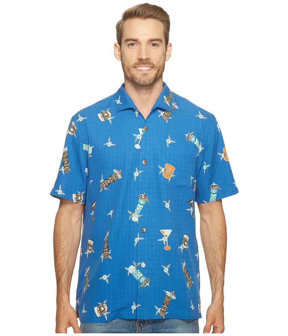 Tommy Bahama - Tiki Harbor Camp Shirt (Old Royal) Men's Clothing