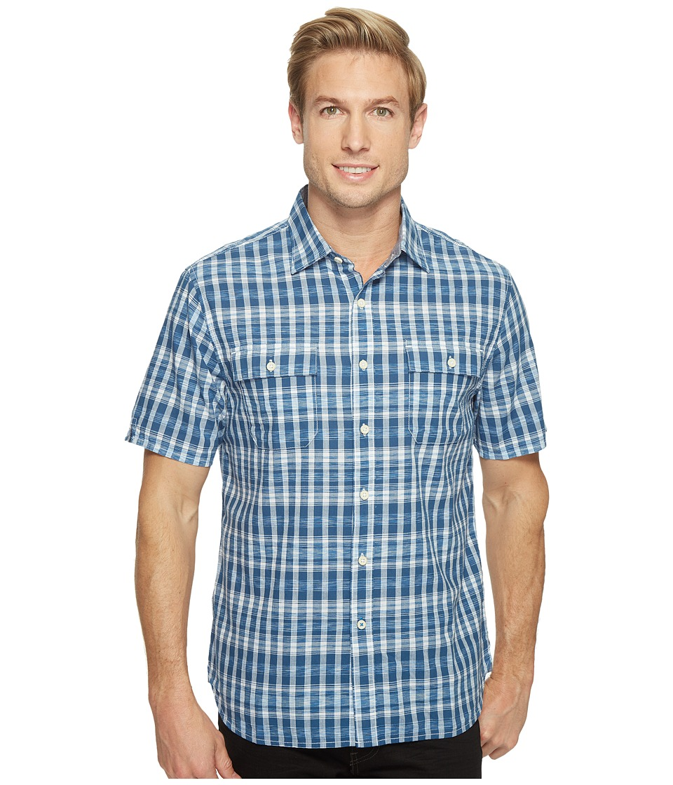 Tommy Bahama - The Ikats Meow Camp Shirt (Ocean Deep) Men's Clothing