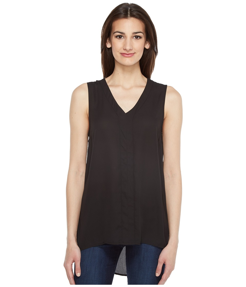 Vince Camuto - Sleeveless High-Low Hem Blouse with Back Lace Trim (Rich Black) Women's Blouse