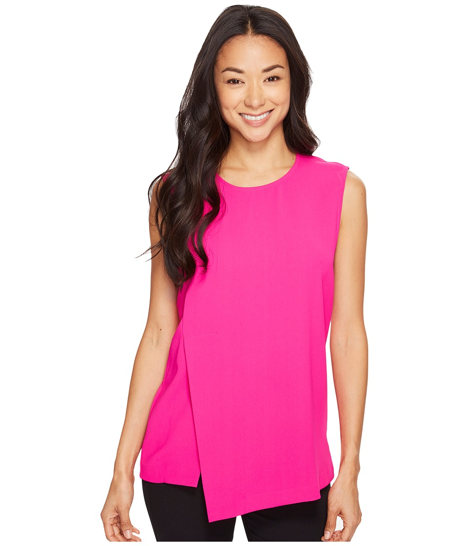 Vince Camuto - Sleeveless Double Layer Shell (Electric Pink) Women's Clothing