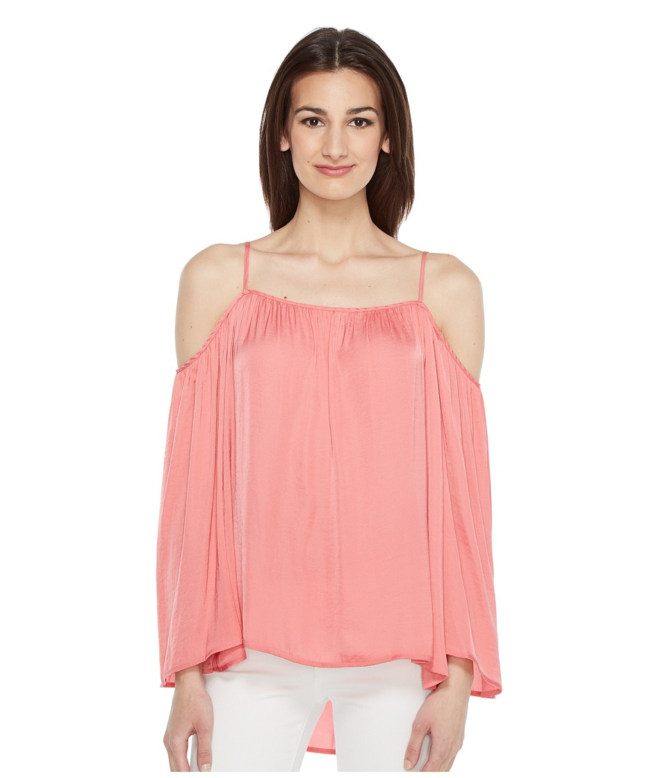Vince Camuto - Long Sleeve Cold-Shoulder Rumple Blouse (Rossetto) Women's Blouse