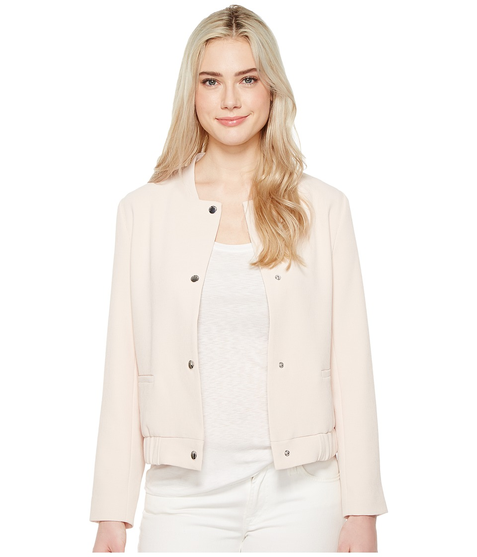 Vince Camuto - Snap Front Blistered Texture Bomber Jacket (Pink Mimosa) Women's Coat