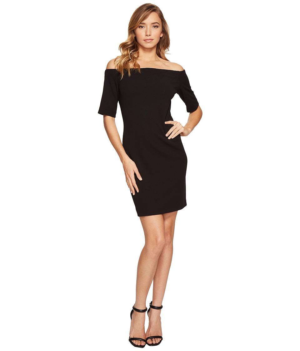 Vince Camuto - Elbow Sleeve Off Shoulder Dress (Rich Black) Women's Dress