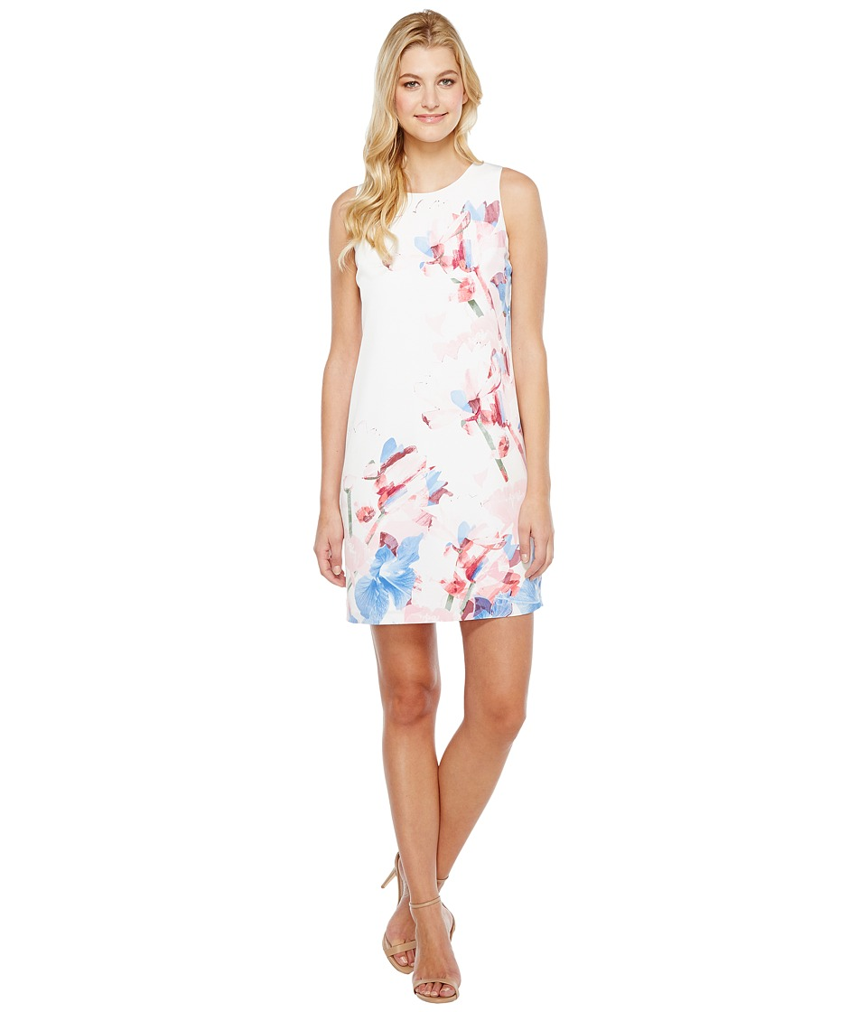 Vince Camuto - Sleeveless Poetic Bouquet Shift Dress (New Ivory) Women's Dress