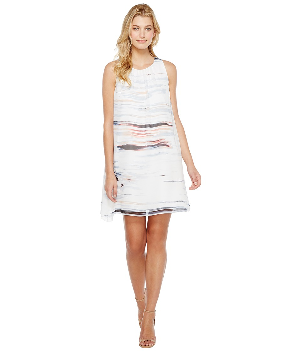 Vince Camuto - Sleeveless Floating Whispers Dress (New Ivory) Women's Dress