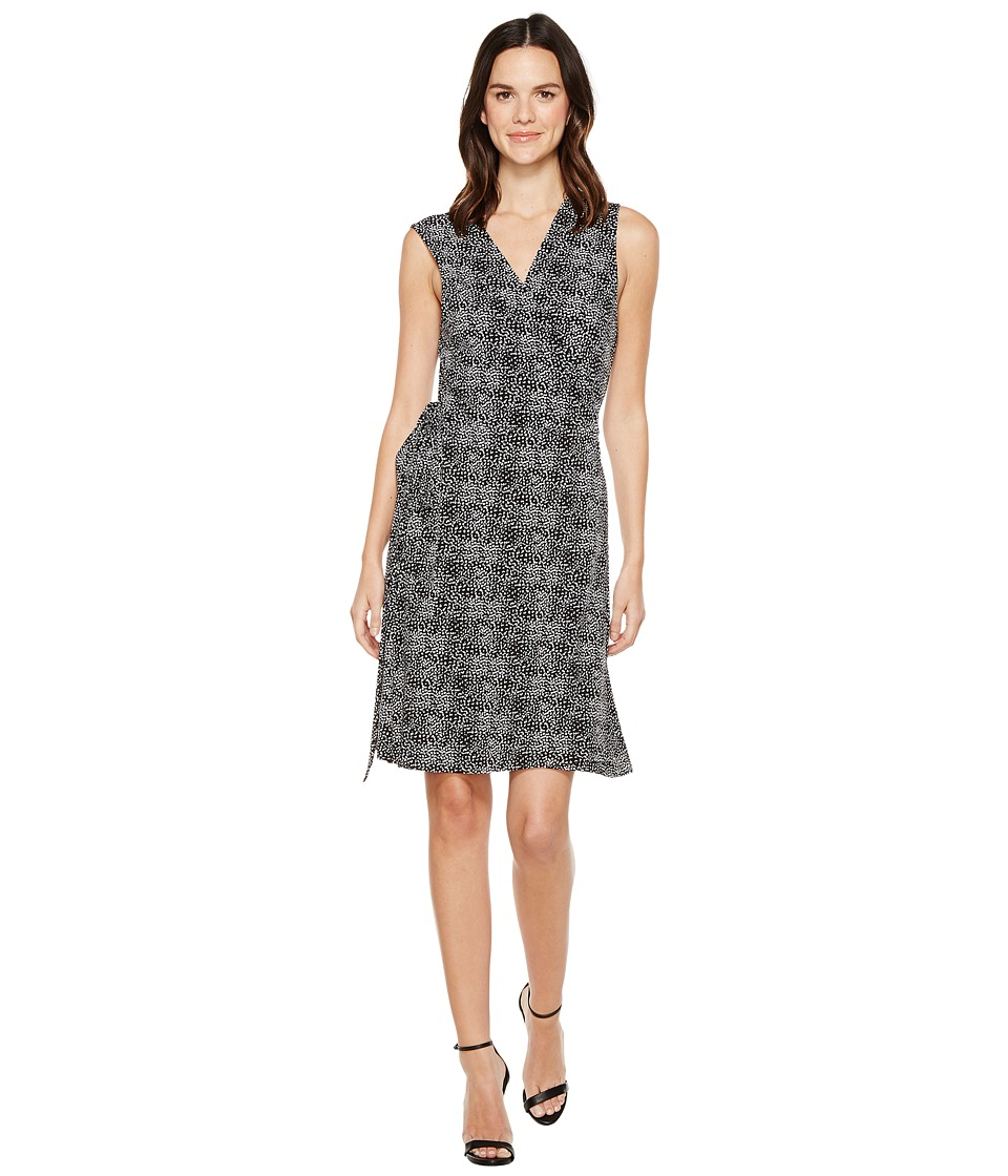Vince Camuto - Sleeveless Delicate Pebbles Wrap Dress (Rich Black) Women's Dress