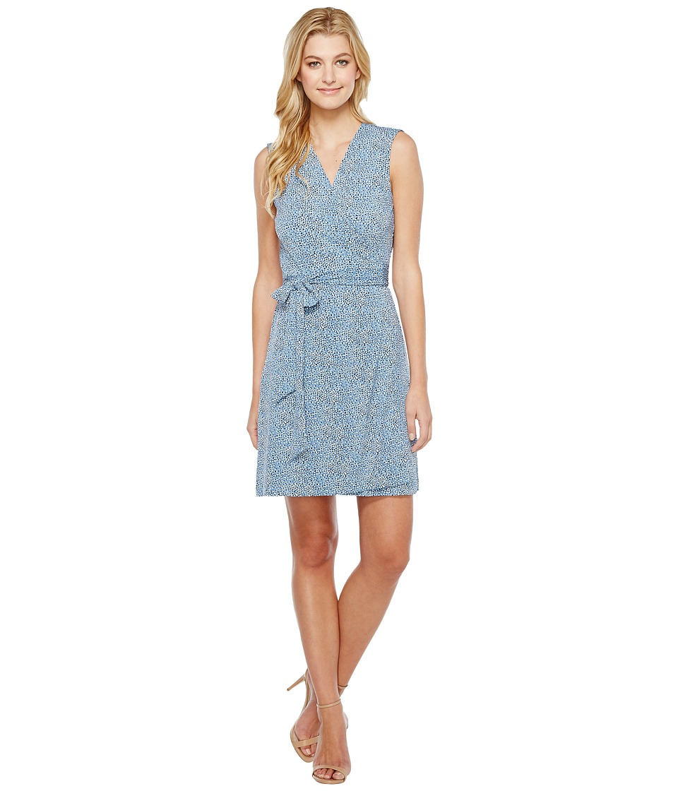 Vince Camuto - Sleeveless Delicate Pebbles Wrap Dress (Stormy Blue) Women's Dress