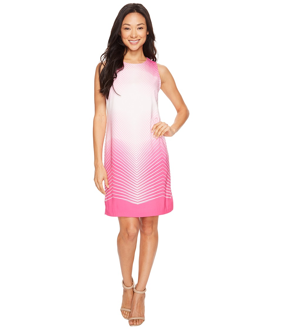 Vince Camuto - Sleeveless Illusion Panel Shift Dress (Electric Pink) Women's Dress