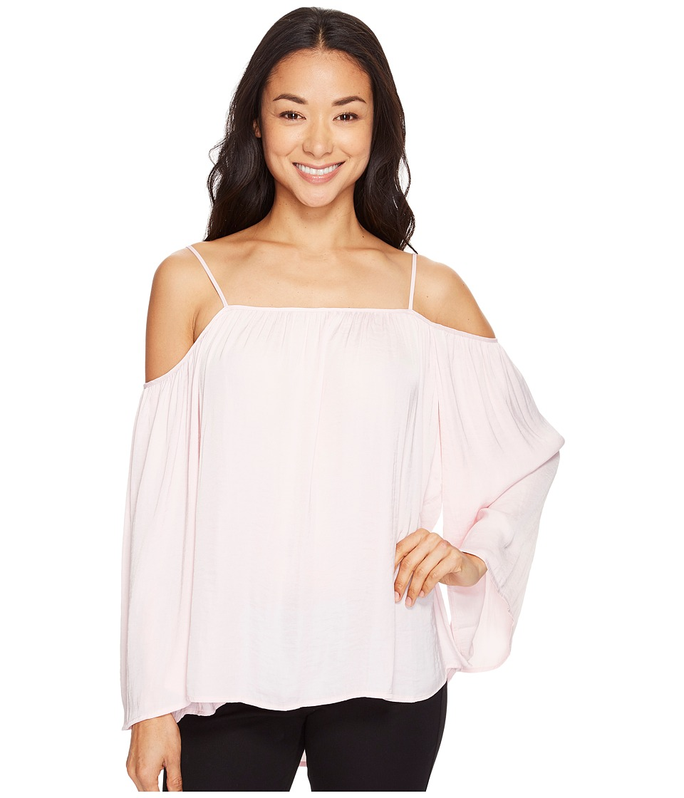 Vince Camuto - Long Sleeve Cold-Shoulder Blouse (Pale Dahlia) Women's Blouse