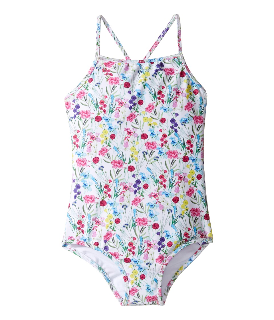 Oscar de la Renta Childrenswear - Botanical Flora Classic Swimsuit (Toddler/Little Kids/Big Kids) (Multi) Girl's Swimsuits One Piece