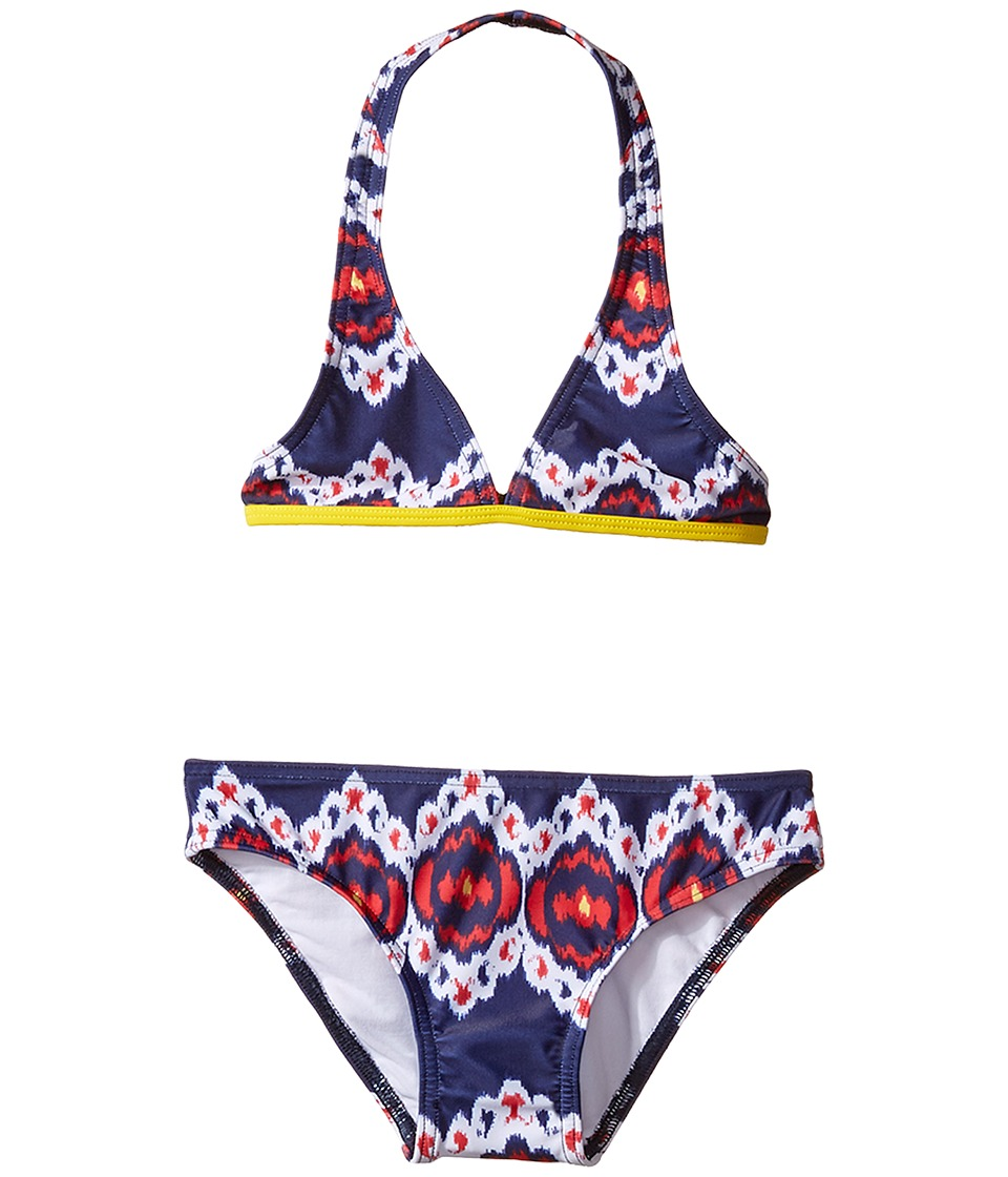 Oscar de la Renta Childrenswear - Ikat Classic Bikini (Toddler/Little Kids/Big Kids) (Navy/Cherry) Girl's Swimwear Sets